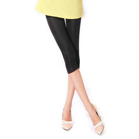 Attractive Solid Candy Neon Colored Fitness and Casual Knee Length Cute Cheap Attractive Women Leggings - 10 Colors