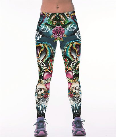 Unique Printed Workout and Jogging Mid Waisted Sexy Elastic Women Leggings With 9 Attractive Designs
