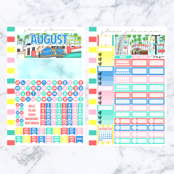 August 2019 A5 Monthly Spread