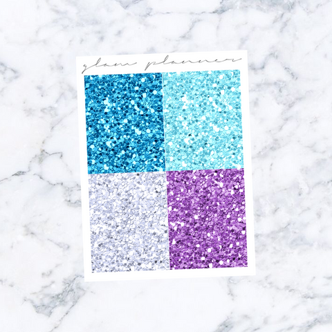 Frozen Glitter Headers
