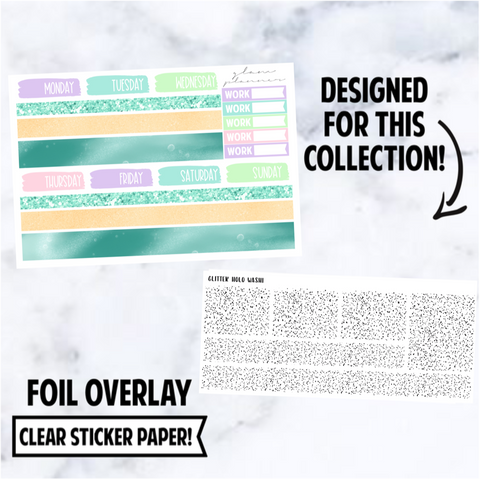 Thingamabob: Washi Foiled Overlay, Glitter Holo