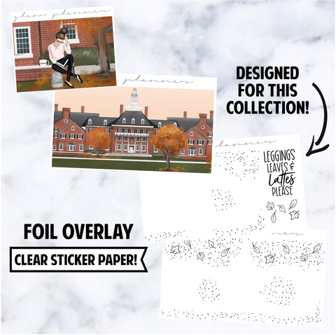 Foiled Overlay: Campus Life, Rose Gold