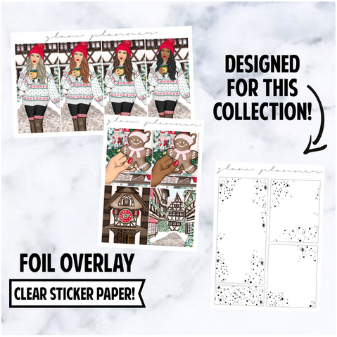 Christmas Village 2020: Foiled Overlay Extras, Silver