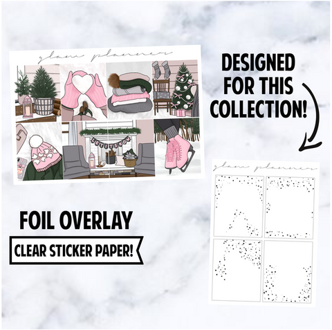 Pink Frost: Foiled Overlay, Silver
