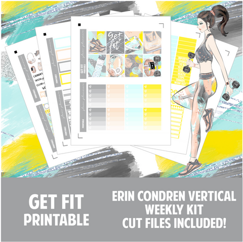 Get Fit Printable Sticker Kit