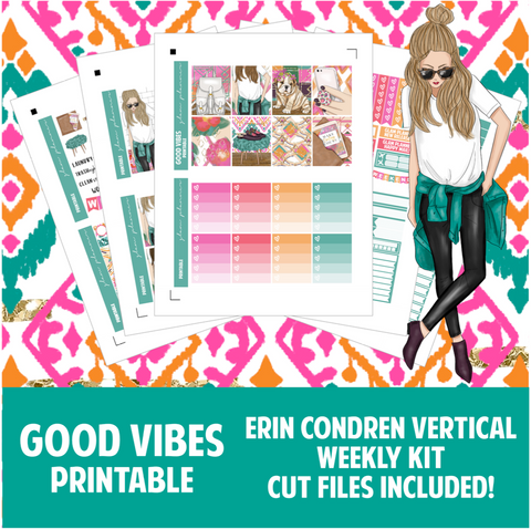 Good Vibes Printable Sticker Kit