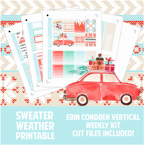 Sweater Weather Printable Sticker Kit