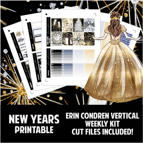 New Years Printable Sticker Kit