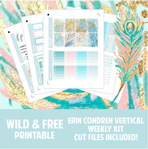 Wild and Free Printable Sticker Kit