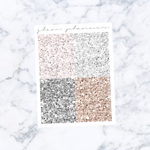 Snowkissed Cashmere Glitter Headers