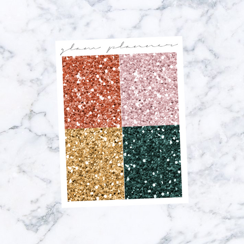 Holiday Spice Glitter Headers