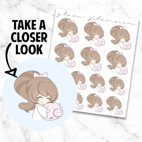 Savings: Bippity and Boo Kawaii Planner Character Stickers