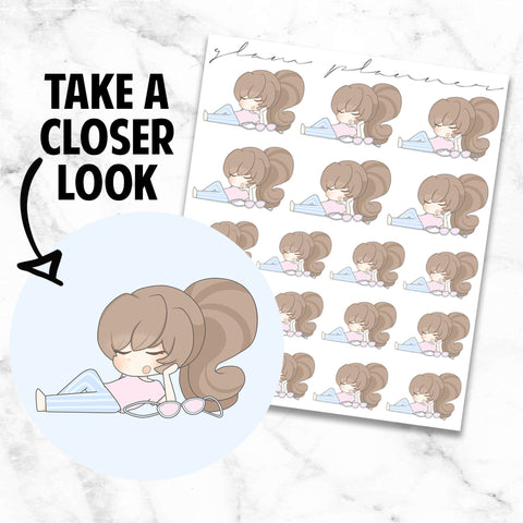 No Bra/Day Off: Bippity and Boo Kawaii Planner Character Stickers