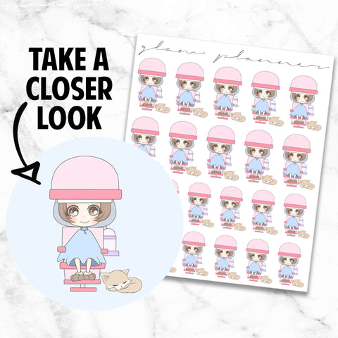 Hair Appointment/Cut/Color/Blow Out: Bippity and Boo Kawaii Planner Character Stickers