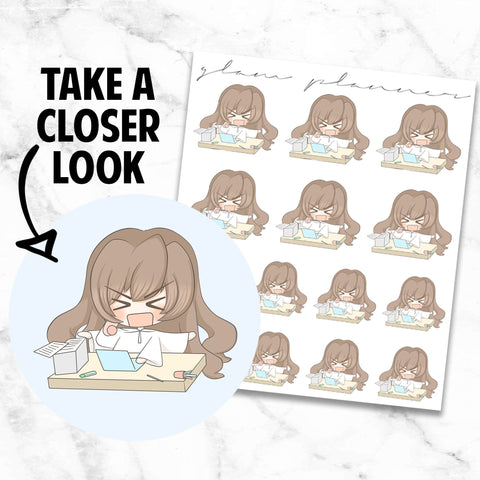 Busy: Bippity and Boo Kawaii Planner Character Stickers