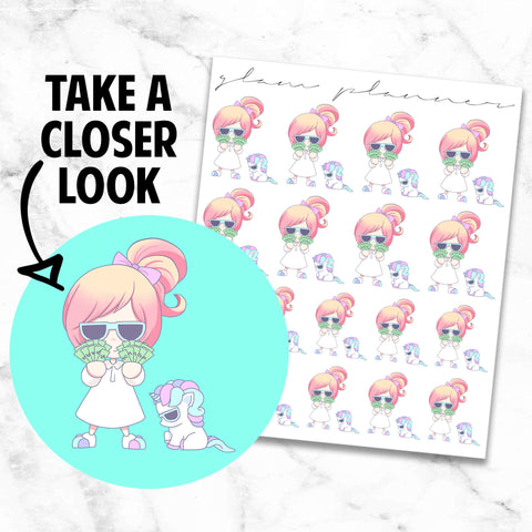 Pay Day: Lolly and Pop Kawaii Planner Character Stickers
