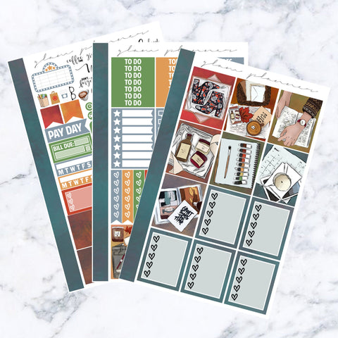 Colors of Fall Essentials Sticker Kit