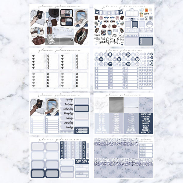 Jetsetter Luxe Sticker Kit (Glam Planner Stickers for Erin Condren Life Planner)