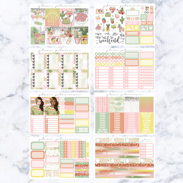 Taco Belle Luxe Kit (Glam Planner Stickers for Erin Condren Life Planner)