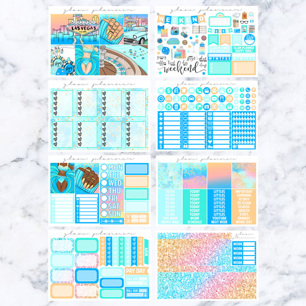 Sunset On The Strip Luxe Sticker Kit (Glam Planner Stickers for Erin Condren Life Planner)