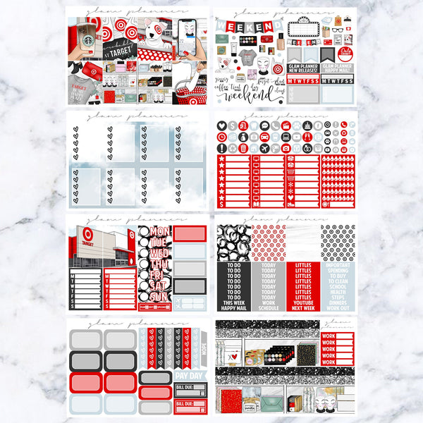 Target Bae Luxe Kit (Glam Planner Stickers for Erin Condren Life Planner)