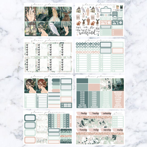 Pixie Hollow Vs. 1 Luxe Kit (Glam Planner Stickers for Erin Condren Life Planner)