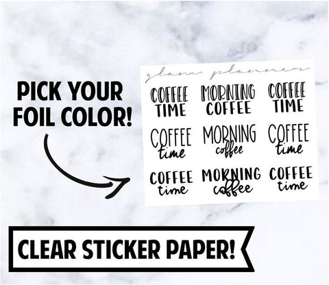Foiled Stickers: Coffee Sampler