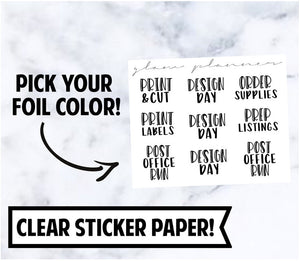 Foiled Stickers: Shop Owner Sampler