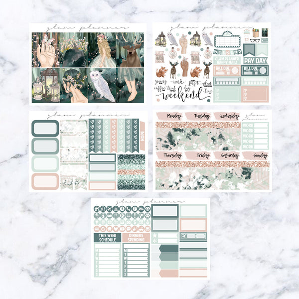 Pixie Hollow Vs. 1 Mini Kit (Glam Planner Stickers for Erin Condren Life Planner)