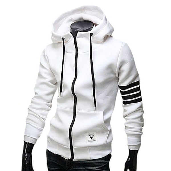 Men Casual Zipper Hooded Jacket - Hoodie Lover