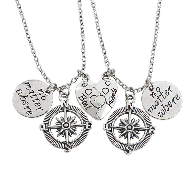Romantic Valentine's Day Gift 2 PCS/Set Broken-Heart Pendant Necklace Set For Men Women Couple - Hoodie Lover