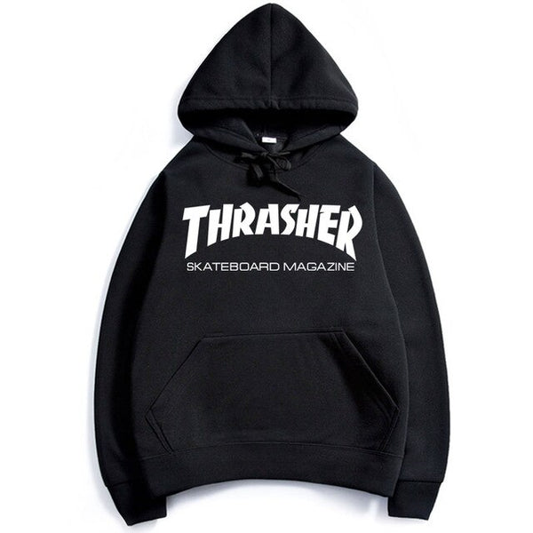 Eqmpowy 2017 thrasher Hoodies men Hip Hop Flame trasher Sportswear hoody Sweatshirt Solid Skateboard Pullover Hoodie Man clothes - Hoodie Lover