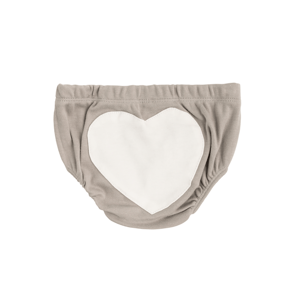 Grey Heart Cotton Bloomer