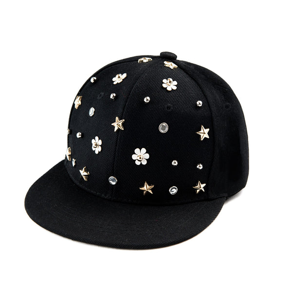 Cap with Floral Studs
