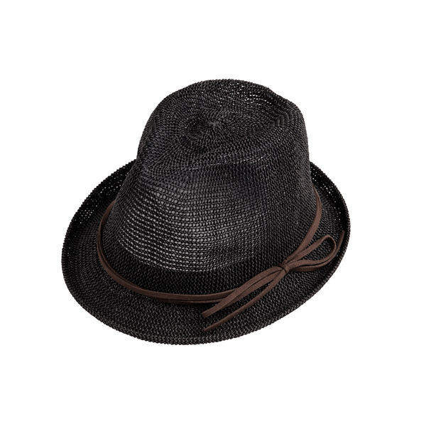 Airy Fedora with Bow in Black
