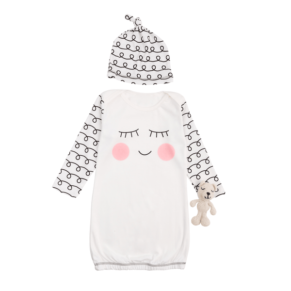 Sleepy Eye Baby Girl Gown