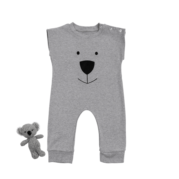Grey Koala Bear Romper