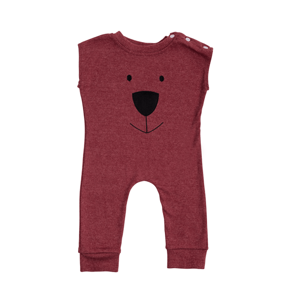 Purple Bear Romper