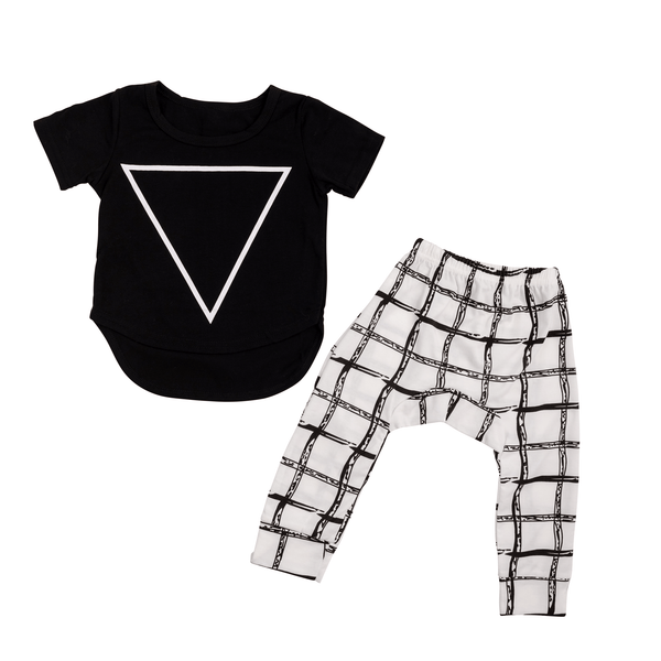 Black and White Baby Set