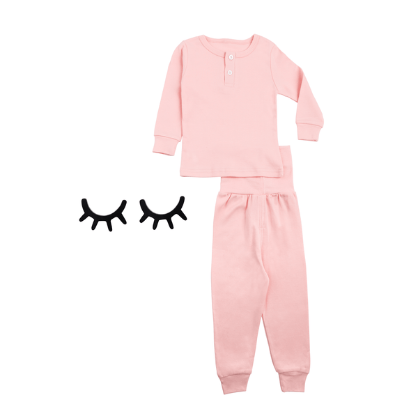 Girls Pink Pajama Set