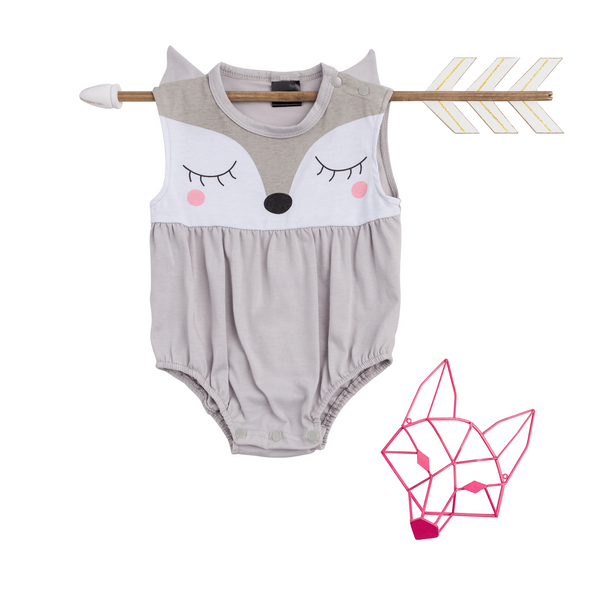 Girls Fox Romper