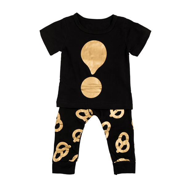 Black and Gold Pretzel Design Set