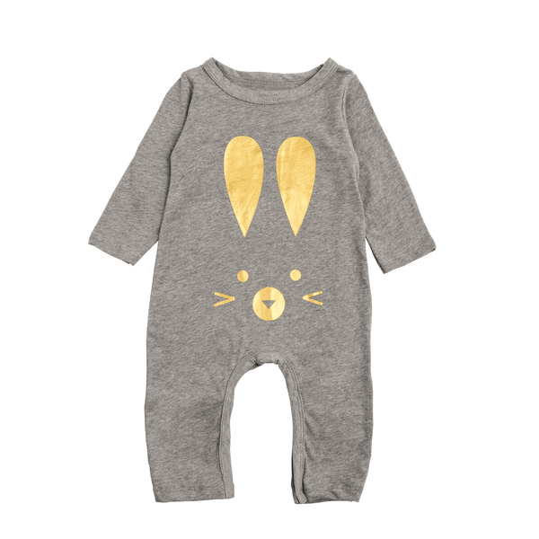 Gold Rabbit Romper