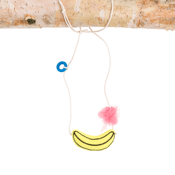 Banana and Pom Necklace