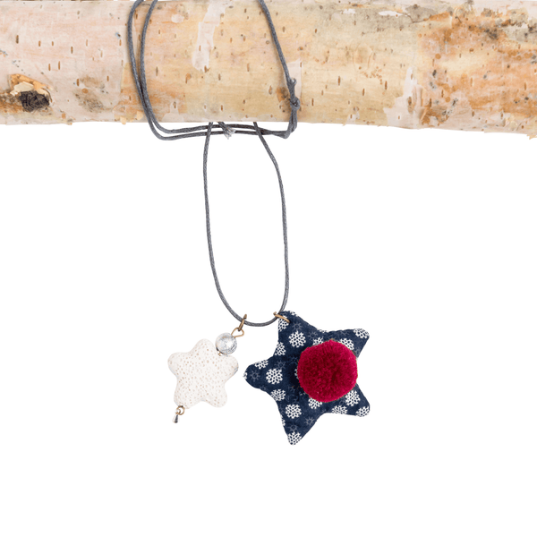 Star and Pom Necklace