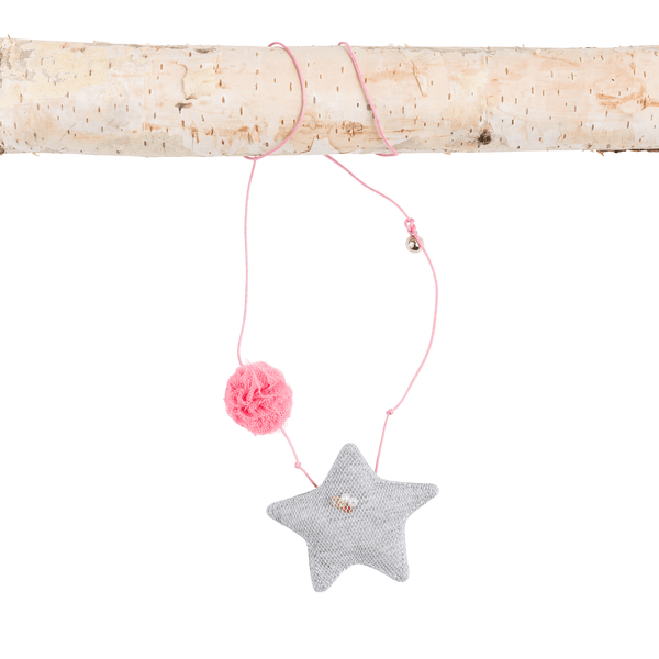 Grey Star and Pom Necklace