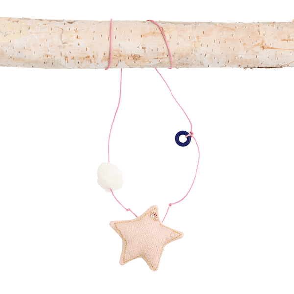 Gold Star and Pom Necklace