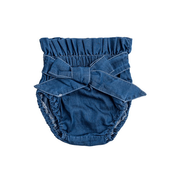 Denim Bow Bloomer
