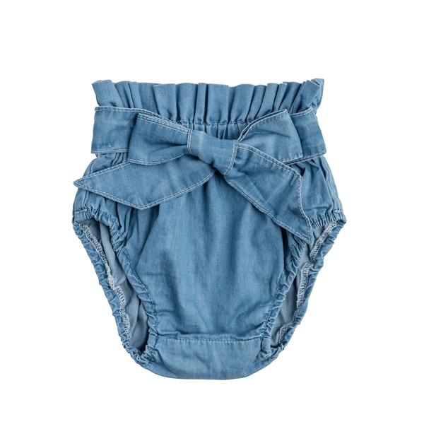 Chambray Bow Bloomer