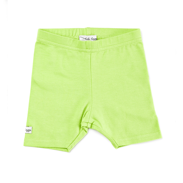 Lil Leggs Short Leggings in Key Lime